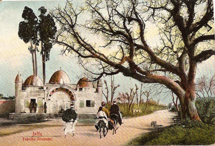 Sabil Abu Nabbut, old postcard from the British Mandate of Palestine -period.