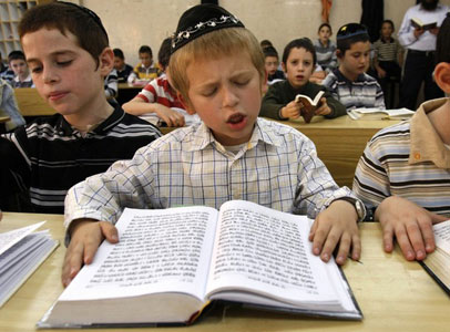 jewish boy reading torah