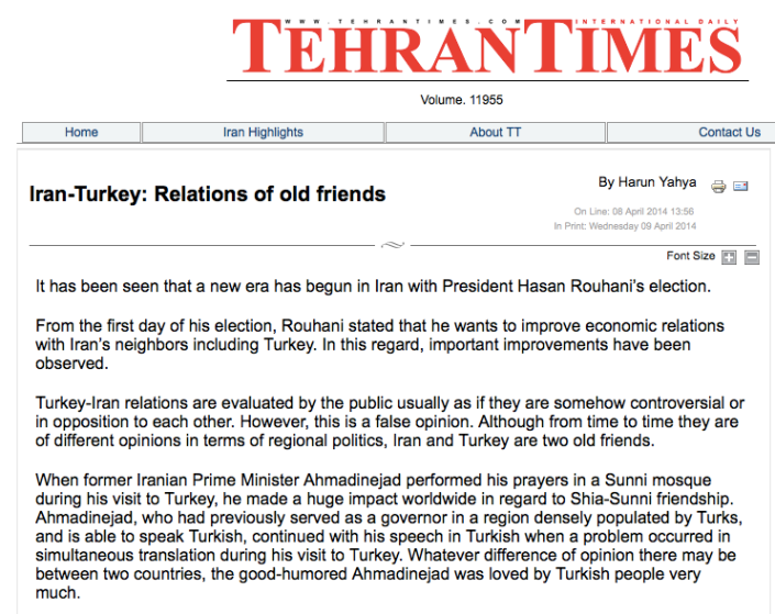 Iran-Turkey: Relations of old friends